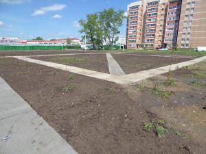 Строительство сквера июнь 2017 - 2